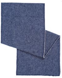 BOSS Orange - North Birds Eye Brushed Cotton Blue Scarf - Lyst