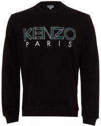 KENZO - Paris Logo Sweatshirt, Regular Fit Black Sweat - Lyst