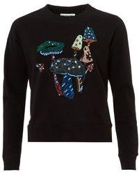 Essentiel Antwerp - Onegara1 Sweatshirt, Sequin Toad Stall Black Jumper - Lyst