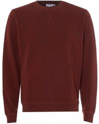 Sunspel - Loopback Cotton Sweatshirt, Red Claret Sweat - Lyst
