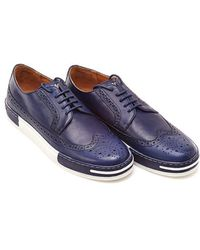 Armani - Blue Two Tone Lace Up Brogue - Lyst