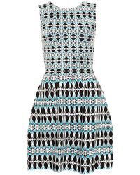 I Blues - Acerbi Knitted Blue Geometric Dress - Lyst