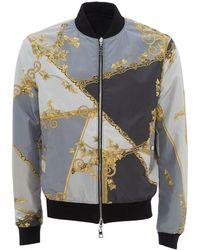 Versace - Baroque Print Bomber Jacket - Lyst