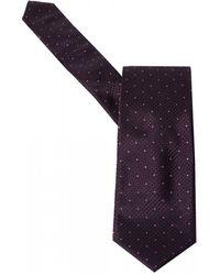 BOSS - Pink Dot Plum Purple Silk Tie - Lyst