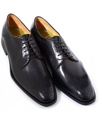 Oliver Sweeney - Bonorva Black Leather Derby Brogue Shoes - Lyst