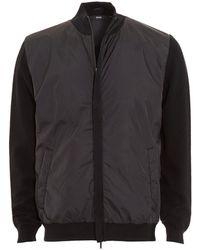 BOSS - Brugge Two Tone Black Varsity Jacket - Lyst
