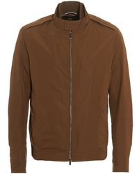 BOSS - Cael Jacket, Half Lined Tan Blouson Jacket - Lyst