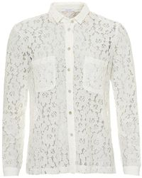 I Blues - Master Lace Shirt, Twin Chest Pockets White Shirt - Lyst