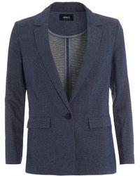 Armani Jeans - Jacket, Navy Blue Long Blazer - Lyst