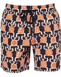 Vilebrequin - Moorea Swimshorts, Primitive Turtle Print Swimming Trunks - Lyst