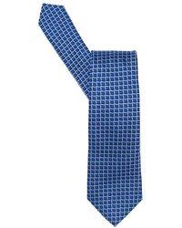 Armani - Sharp Check Tie Blue Sky - Lyst