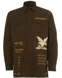 Maharishi - Eagle Tour Embroidered Jacket, Mill Olive Overshirt - Lyst