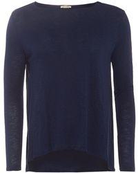 American Vintage - Lorkford T-shirt, Long Sleeve Navy Blue Loose Tee - Lyst