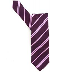 BOSS Black - Classic Tie Purple Diagonal Stripe Silk Tie - Lyst