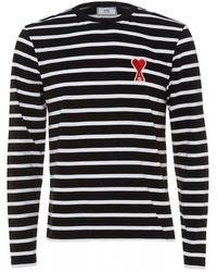 AMI - De Coeur Sweatshirt, Black Regular Fit Sweat - Lyst