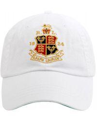 Ralph Lauren - Crest Baseball Cap, White Hat - Lyst