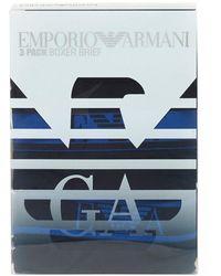 Emporio Armani - Three Pack Boxers, Black Trunks - Lyst
