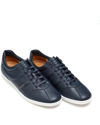 BOSS by Hugo Boss - Rumba Ten Trainers, Dark Blue Leather Trainers - Lyst