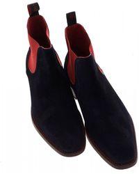 Jeffery West - Horror Show Libertine Dexter Dark Blue Chelsea Boots - Lyst