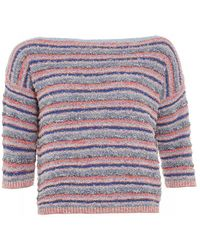 I Blues | Jumper Blue Multi Red 'diesel' Stripe Knitwear | Lyst