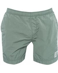 C P Company - Nylon Metal Swimshorts, Logo Patch Swimming Trunks - Lyst