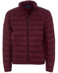 Ralph Lauren - Packable Quilted Down Puffa, Burgundy Classic Wine Jacket - Lyst