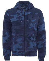 Ralph Lauren - Camo Hoodie, Zip Up Navy Blue Hooded Sweatshirt - Lyst