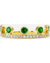 Khai Khai - Tsavorite Crown Ring - Lyst