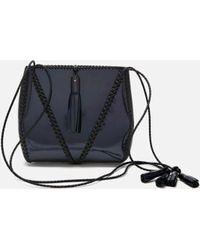Wendy Nichol - Braided V Bag In Black Rainbow - Lyst