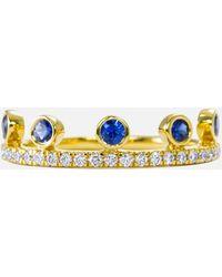 Khai Khai - Blue Sapphire Crown Ring - Lyst
