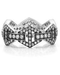 WALTERS FAITH - Keynes Signature Diamond Hex Ring - Lyst