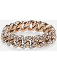 SHAY - Pave Diamond Essential Link Ring In Rose Gold - Lyst