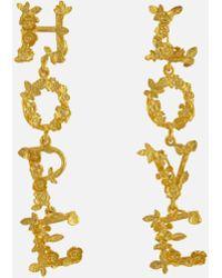 d38b6a33c Alex Monroe 18ct Gold Diamond Tiny Claw Stud Earrings in Metallic - Lyst