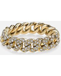 SHAY - Pave Diamond Essential Link Ring In Yellow Gold - Lyst