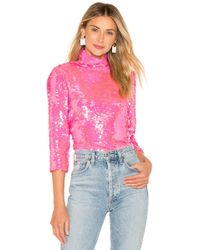 MILLY - Sequin Turtleneck - Lyst