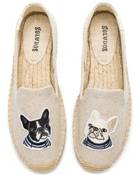 Soludos - Teddy & Gigi Smoking Slipper In Beige - Lyst