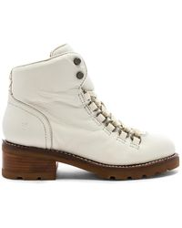 Frye - Alta Hiker Boot In White - Lyst