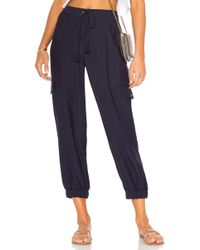 1.STATE - Flat Front Cargo Pant In Navy - Lyst