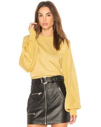 Free People - Let It Shine Pullover Sweater In Yellow - Lyst