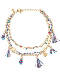Rebecca Minkoff - Tassel Anklet In Metallic Gold. - Lyst