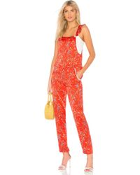 Paloma Blue - Amalfi Overalls In Red - Lyst