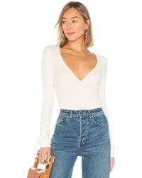 Free People - Body cozy up with me en color ivory - Lyst