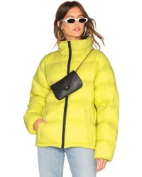 Sanctuary - Just Chill Cropped Puffa Jacket In Lemon - Lyst