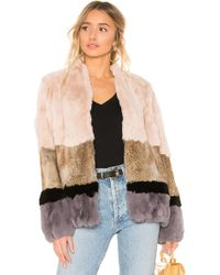 Heartloom - Chandler Rabbit Fur Jacket In Cream - Lyst