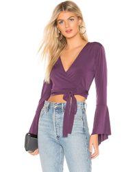 BCBGeneration - Wrap Crop Top In Purple - Lyst