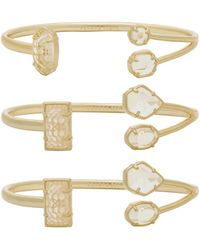 Kendra Scott - Cammy Pinch Bracelet Set Of 3 - Lyst