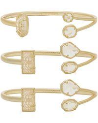 Kendra Scott - Cammy Pinch Bracelet Set Of 3 - Lyst