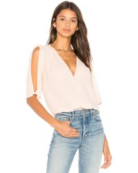 Three Eighty Two | Rumi Surplice Top | Lyst