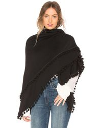 Michael Stars - Madison Poncho In Black. - Lyst