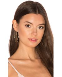 Joolz by Martha Calvo - Double Drop Hoop Earrings - Lyst